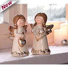 2 angel figurines