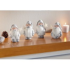 4 Santa Claus figurines