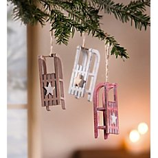 3-pk hanging decoration sledge