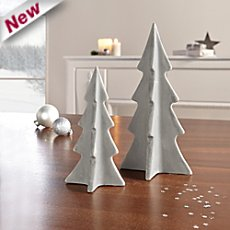 2-pk miniature Christmas trees