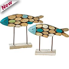 2-pk fish figurines