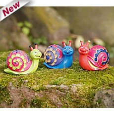 3-pk decoration snails