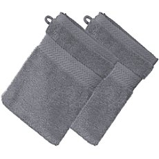 Pack of 2 Erwin Müller premium cotton wash mitts, Friedrichshafen