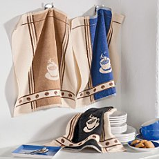 Pack of 3 terry tea towels