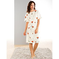 Pill buttoned single jersey nightdress