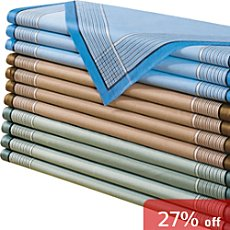 12-pk handkerchiefs for men