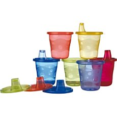Nuby Wash or Toss™ cups, 6-pk