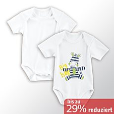 Baby Butt Kurzarm-Body im 2er-Pack