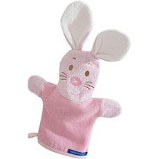 Morgenstern Walk-Frottier Waschhandschuh 2-in-1 Hase