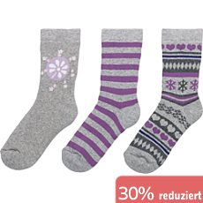 Kinderbutt Socken Winter im 3er-Pack