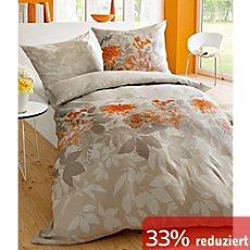 bettw sche 135x200 cm in orange erwin m ller. Black Bedroom Furniture Sets. Home Design Ideas