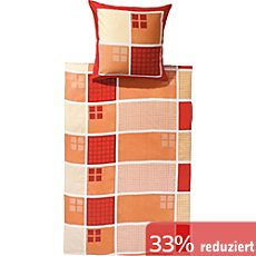 bettw sche 155x220 cm orange erwin m ller. Black Bedroom Furniture Sets. Home Design Ideas