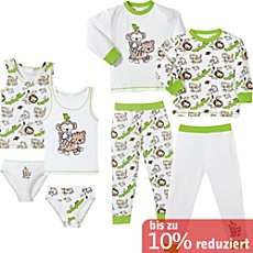 Kinderbutt Single-Jersey Dschungel-Set 8-tlg.