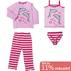 Kinderbutt Single-Jersey 4-teiliges Set