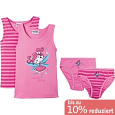 Kinderbutt Interlock-Jersey 4-teiliges Unterwäsche-Set