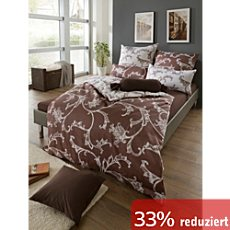 g nstige bettw sche 135x200 cm 80x80 cm in braun beige. Black Bedroom Furniture Sets. Home Design Ideas