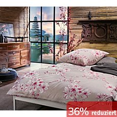 g nstige satin bettw sche 155x220 cm 40x80 cm sale bei. Black Bedroom Furniture Sets. Home Design Ideas