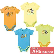Baby Butt Interlock-Jersey Body Kurzarm im 4er-Pack