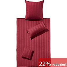 g nstige bettw sche 155x220 cm 80x80 cm in rot sale. Black Bedroom Furniture Sets. Home Design Ideas