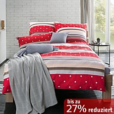 seersucker bettw sche in rot erwin m ller. Black Bedroom Furniture Sets. Home Design Ideas