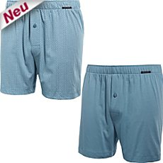 Schiesser Single-Jersey Boxershorts im 2er-Pack