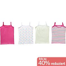 Kinderbutt Single-Jersey Unterhemd im 4er-Pack