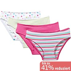 Kinderbutt Single-Jersey Slip im 4er-Pack