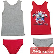 Kinderbutt Single-Jersey Unterwäsche-Set 4-teilig