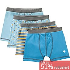 Kinderbutt Single-Jersey Shorts im 4er-Pack