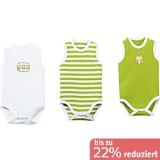 Baby Butt Interlock-Jersey Body im 3er-Pack