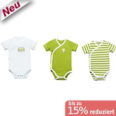 Baby Butt Interlock-Jersey Wickelbody im 3er-Pack