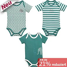 Baby Butt Interlock-Jersey Body kurzarm im 3er-Pack