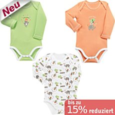 Baby Butt Interlock-Jersey Body Langarm im 3er-Pack