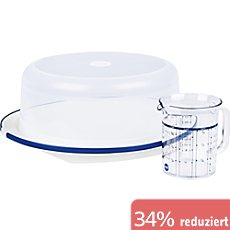 Emsa SUPERLINE Set Kuchentransportbox und Messbecher