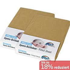 Alvi Single-Jersey Spannbettlaken im 2er-Pack