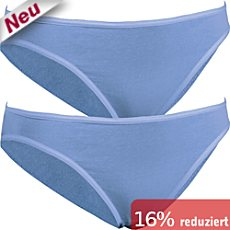 Pompadour Single-Jersey Bikinislip im 2er-Pack