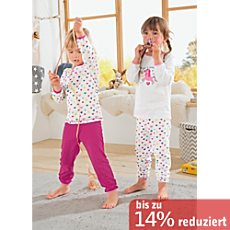 Kinderbutt Single-Jersey Schlafanzug im 2er-Pack