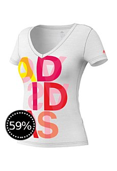 Adidas Damen T-Shirt Coloured Lineage Tee
