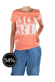 Tom Tailor Polo Team Damen T-Shirt fusion coral