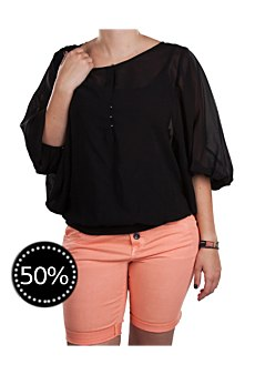 Tom Tailor Damen Bluse black