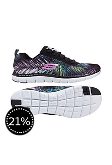 Skechers Damen Laufschuhe Flex Appeal 2.0 tropical