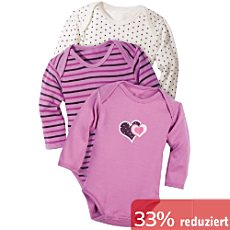 Baby Butt Langarm-Body im 3er-Pack