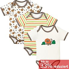 Baby Butt Kurzarm-Body im 3er-Pack