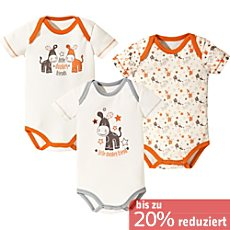 Baby Butt Body kurzarm im 3er-Pack