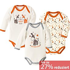 Baby Butt Body langarm im 3er-Pack
