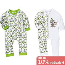 Erwin Müller Baby-Schlafoverall im 2er-Pack