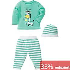 Kinderbutt Interlock-Jersey Set 3-teilig
