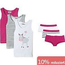 Kinderbutt Interlock-Jersey 6-teiliges Unterwäsche-Set