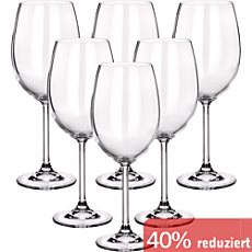 Bordeauxglas im 6er-Pack