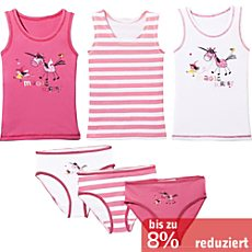 Kinderbutt Single-Jersey Unterwäsche-Set 6-tlg.